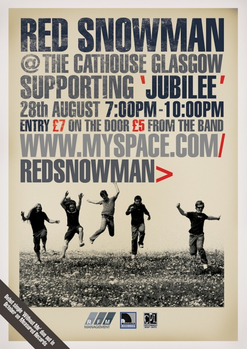 22_Gig poster for Red Snowman