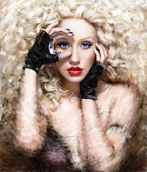 3_Painting Christina Aguilera