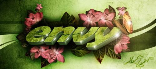 25_Envy 3D Text Wallpaper