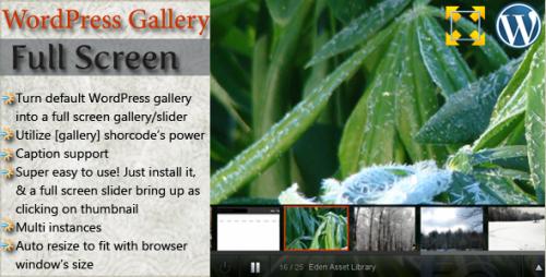 15_WordPress Full Screen Gallery