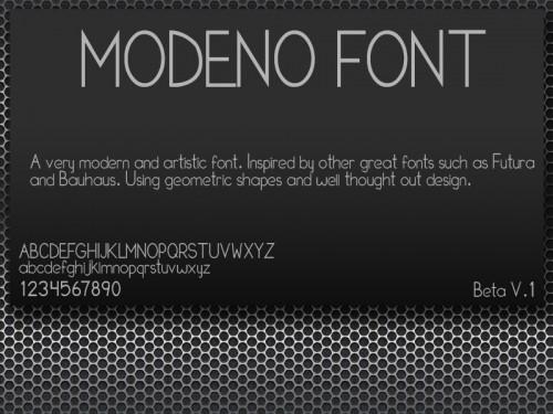 17_Modeno Font