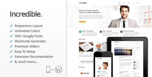 19_Incredible - Responsive WordPress Theme