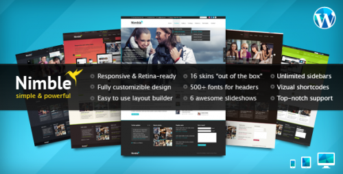 25_Nimble — Multipurpose Retina Ready WordPress Theme