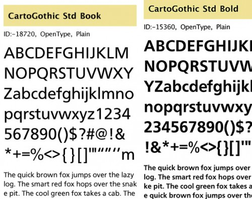 32_CartoGothic Std Typeface