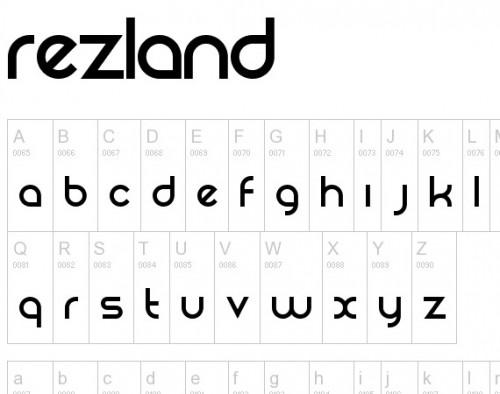 33_Rezland Typeface