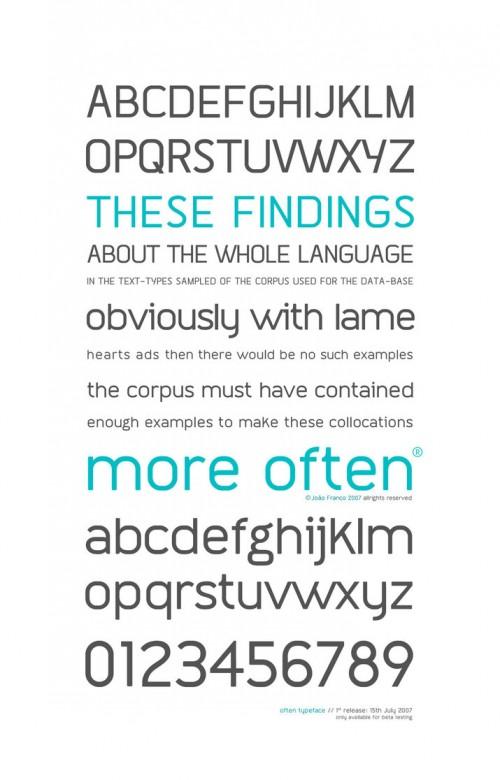 34_Often Typeface