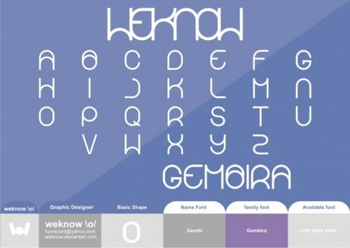 46_Gembira Font Byweknow
