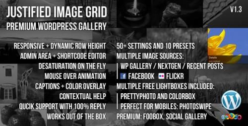 5_Justified Image Grid - Premium WordPress Gallery
