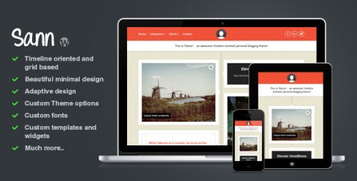 6_Sann - Timeline Oriented Personal Blog WP Theme
