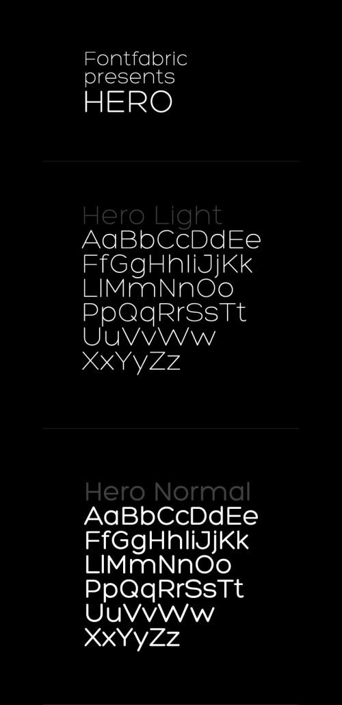 7_Hero Free Font
