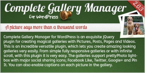 8_Complete Gallery Manager for WordPress