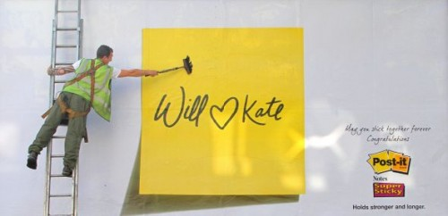 18_3M's Post - It Super Sticky Notes - Royal Wedding Ad