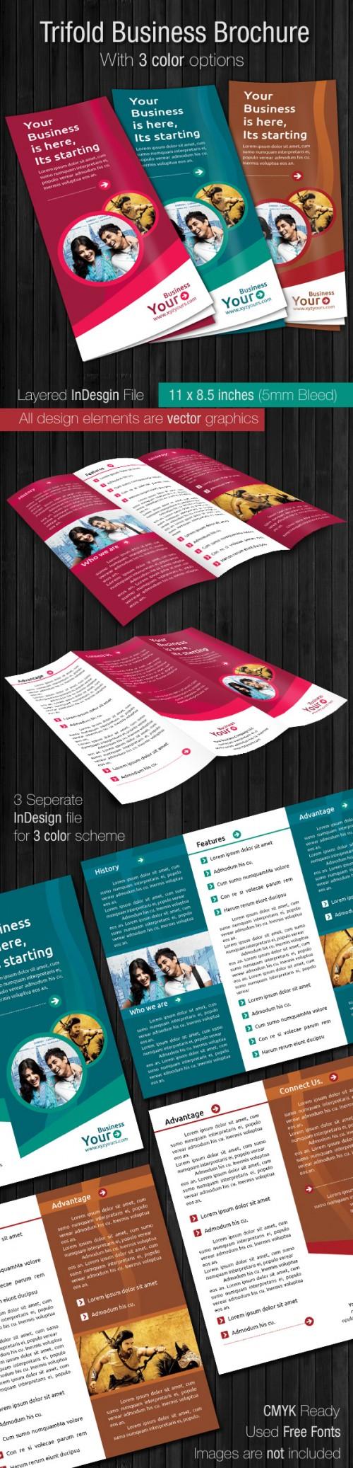 18_Tri Fold Brochure Template Business 3 Color