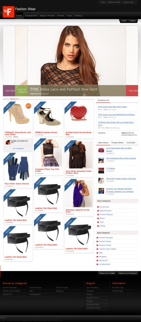 1_FashionWear – Free Premium WordPress e-Commerce Theme