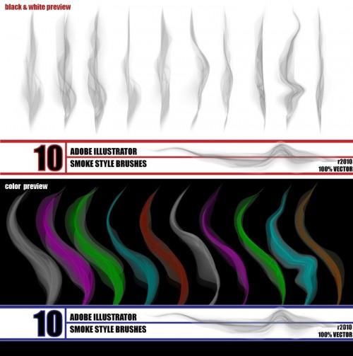20_Smoke - Illustrator Brush Pack