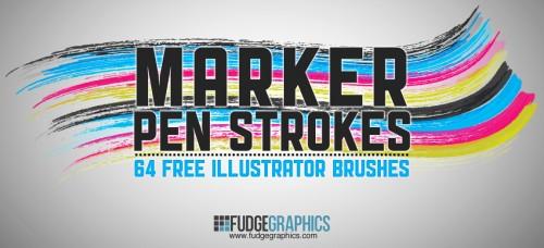 29_Marker Pen Strokes AI Brushes