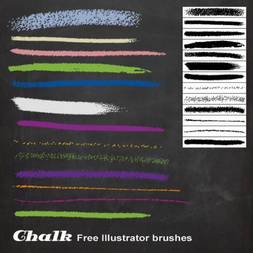 2_Chalk Illustrator Brushes
