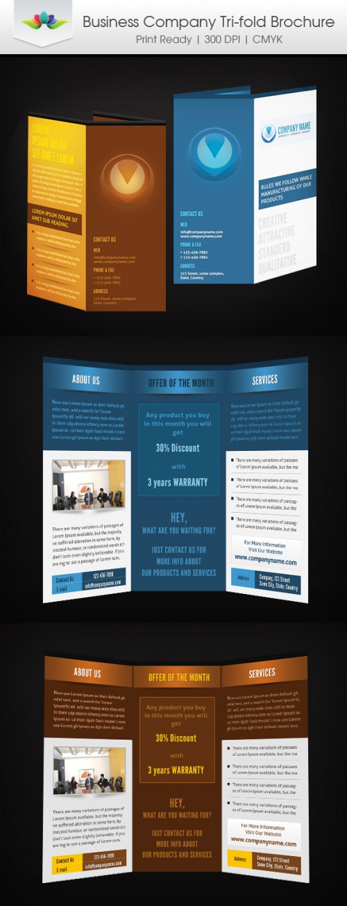 35_Business Company Tri-Fold Brochure