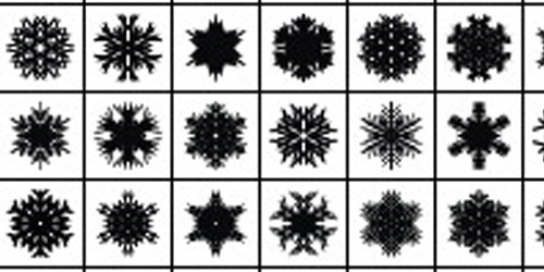 38_New Exclusive Illustrator Snowflake Scatter Brushes