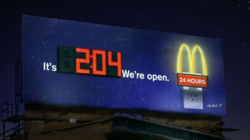 41_McDonald's - Clock Billboard