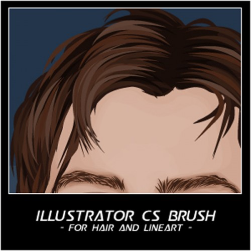 43_Hair And Line Art Brushes