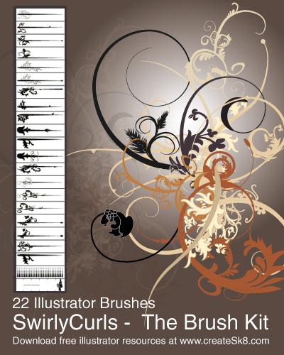 8_Swirly Curls - Sick Brush Kit
