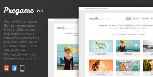 15_Pregame - Responsive, AJAX, Html5, Portfolio Theme