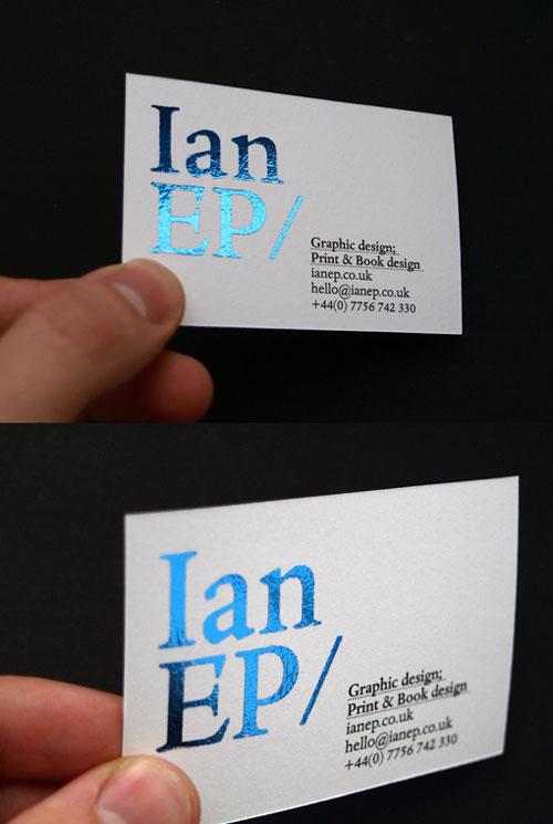 36_Foiled Blue Businesscard