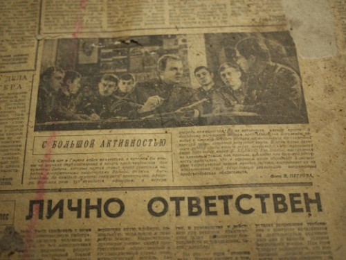36_Old Soviet Newspaper