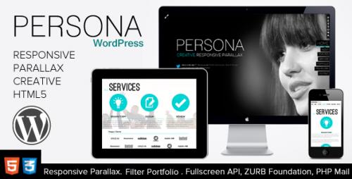 4_Persona - WordPress Responsive Creative Parallax