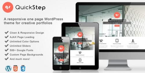 9_QuickStep - Responsive One Page Portfolio Theme