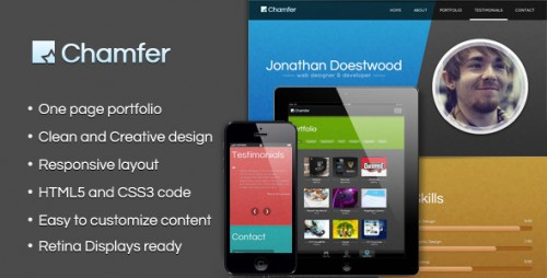 15_Chamfer - One Page Responsive Theme