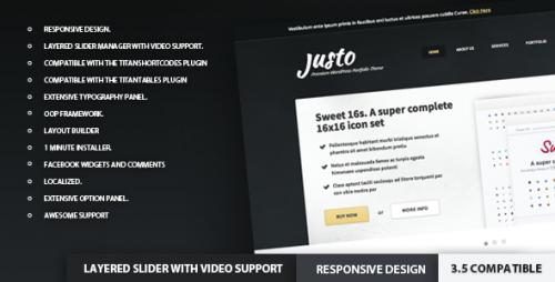 20_Justo - Responsive WordPress PortfolioTheme