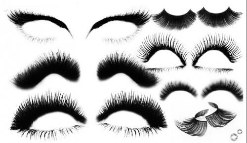 22 Eyelashes Brushes,for Photoshop