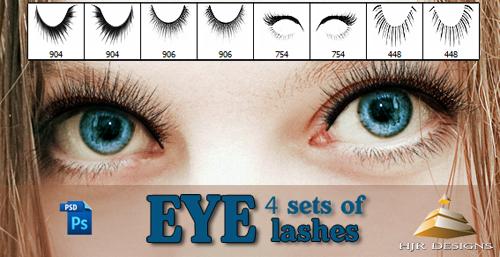 4 Sets of Eyelashes Brush