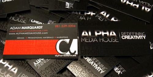 Alpha Media House Business Card