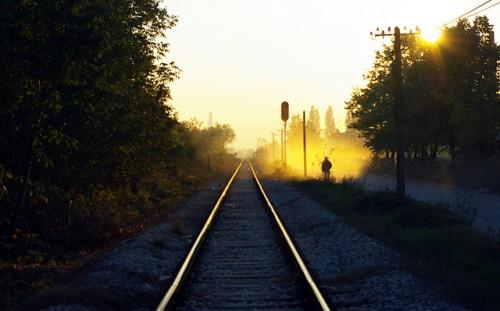 Railroad at Loznica, Serbia