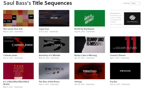 Saul Bass's Title Sequences