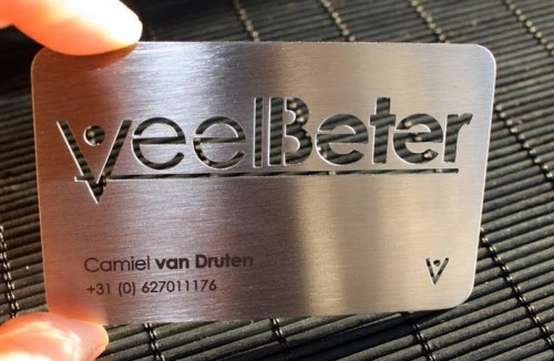 Metal Business Card – Veel Beter