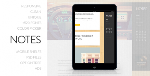 Notes - Personal WordPress Theme