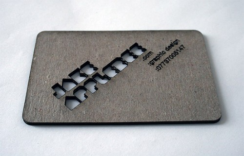 Unique Laser Cut Business Card