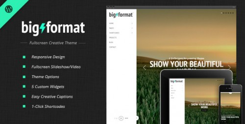BigFormat - Responsive Fullscreen WP Theme