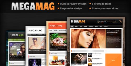 MEGAMAG - Responsive Blog/Magazine Style Theme