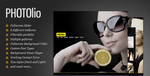 Photolio - Photography, Portfolio WordPress Theme
