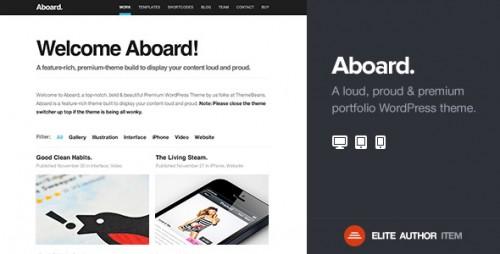 Aboard - Responsive Premium Portfolio Theme