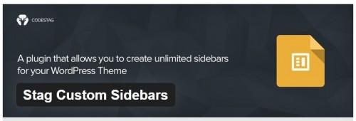Stag Custom Sidebars