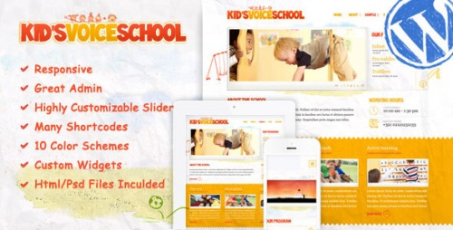 Kid's Voice School - Responsive WordPress Theme