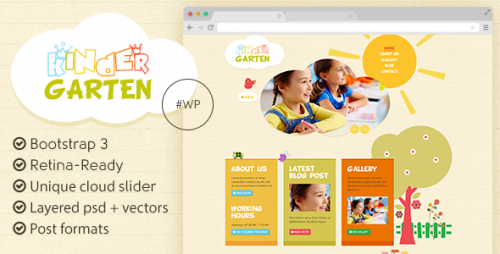 Kindergarten - Bootstrap 3 WordPress Theme
