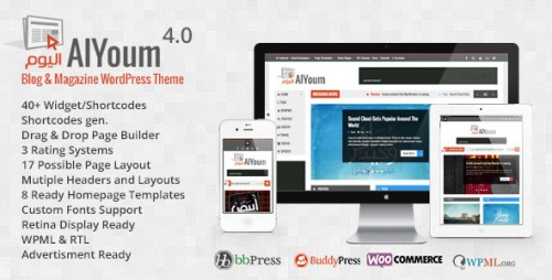 AlYoum - Retina Magazine & Blog WordPress Theme