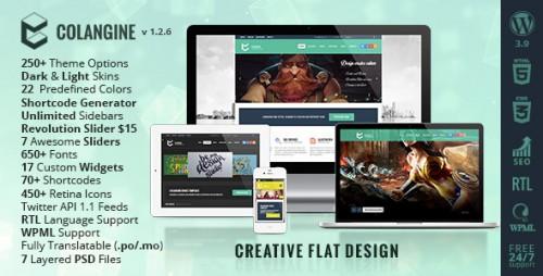 Colangine - Creative Flat WordPress Theme